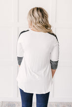Load image into Gallery viewer, The Edge Of Stripes Top in White