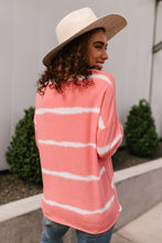 Load image into Gallery viewer, Wave of Stripes Top in Coral