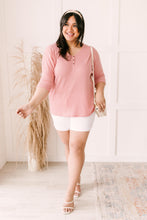 Load image into Gallery viewer, Willow Waffle Knit Top in Blush