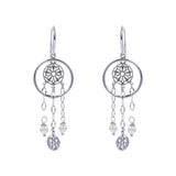 Oxidized Filigree Swarovski® Pearl / Chain Earring