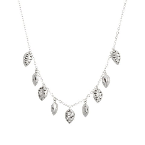 Multi Filigree Leaf Drop Necklace
