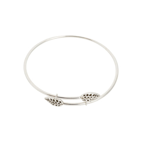 Filigree Leaf Bypass Bangle