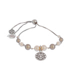 Adjustable Oxidized Multi Swarovski® Pearl Bracelet