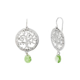 Round Filigree Tree of Life Swarovski® Crystal Drop Earring