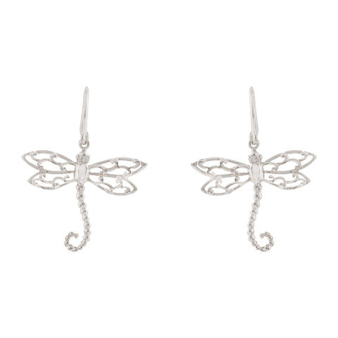Filigree Dragonfly Drop Earring