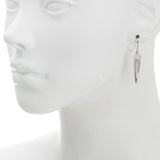 Oxidized Filigree Horn Drop Earring