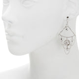 Sun, Moon and Star Chain Drop Earring