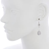 Oxidized Filigree Disc Chain Earring
