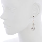 Oxidized Filigree Swarovski® Pearl Double Disc Earring