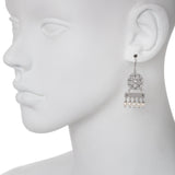 Oxidized Multi Swarovski® Pearl / Filigree Earring