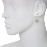 Oxidized Filigree Disc Drop Earring