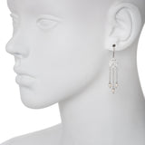 Oxidized Filigree Swarovski® Pearl Multi Chain Earring