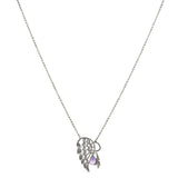 Filigree Angel Wing with Amethyst and Angel Drop Necklace