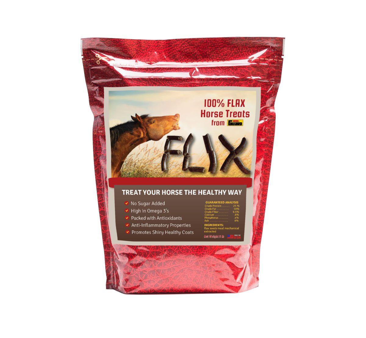 flax treats for horses