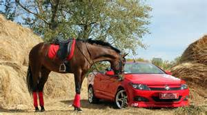 performance horse and car