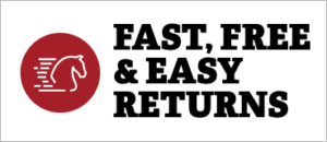 Fast, Free and Easy Returns