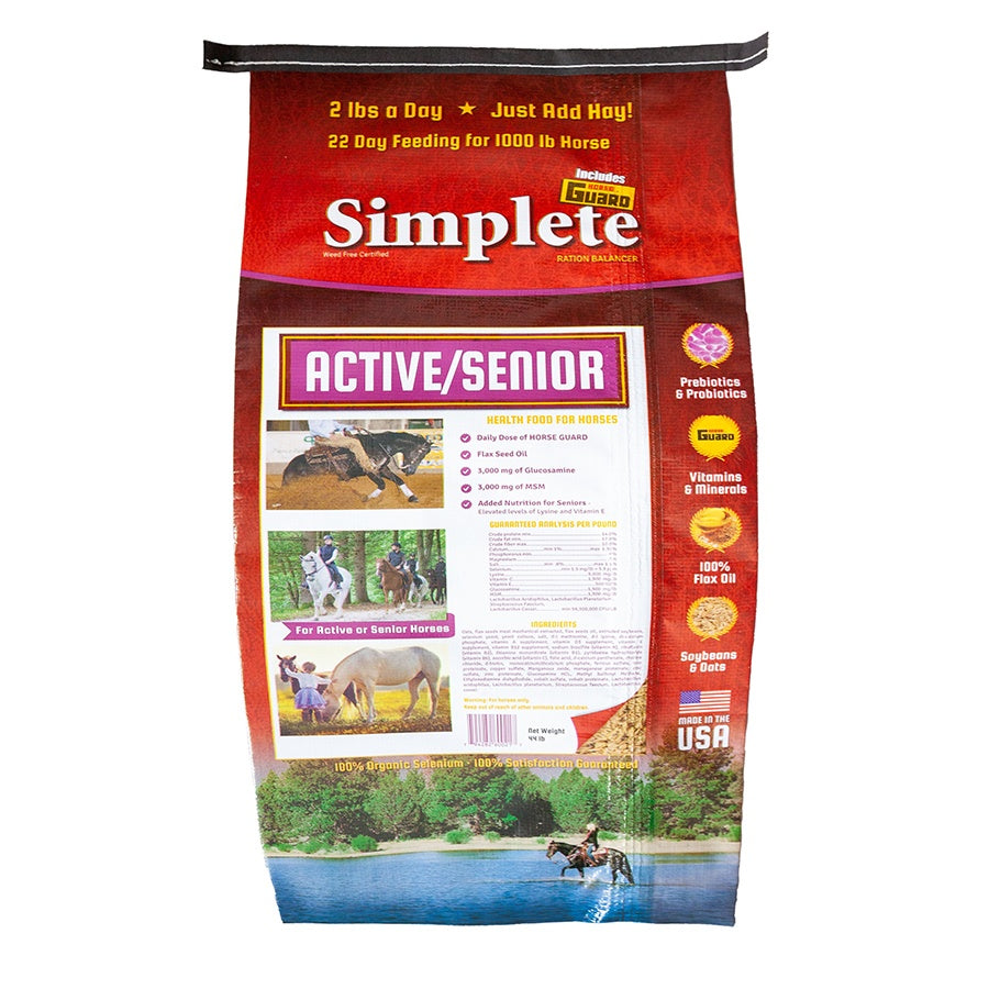 Simplete Senior Active 44lb Front Complete Supplement by Horse Guard