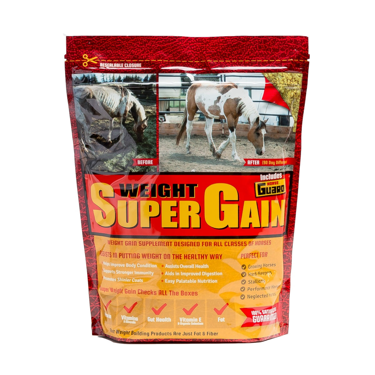 Super Weight Gain 10lb Front Supplement by Horse Guard