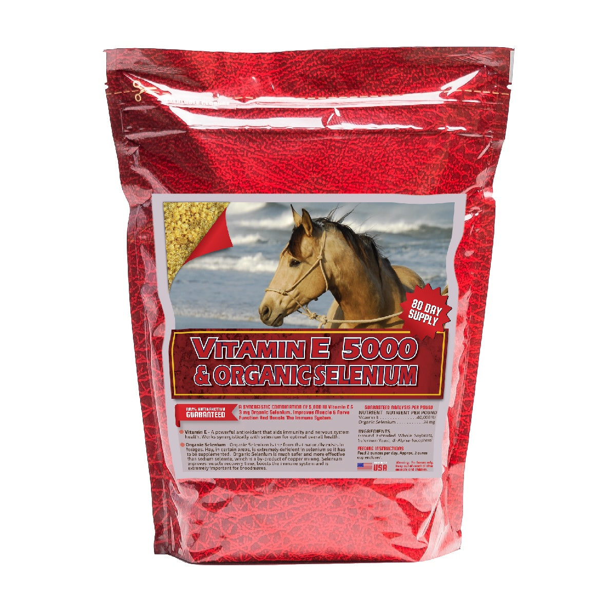 Vitamin E Organic Selenium 10lb Front Supplement by Horse Guard