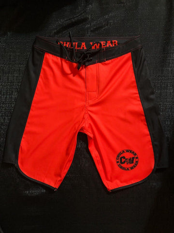 """Crimson Tides"" Board Shorts"