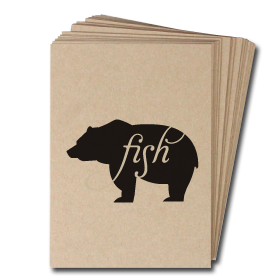 Animals Eat Cards: Bear Eats Fish