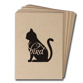 Animals Eat Cards: Cat Eats Bird