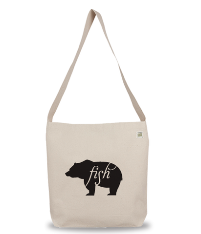 Animals Eat Eco Bag: Bear Eats Fish