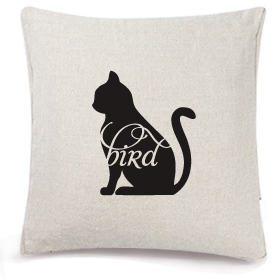 Animals Eat Cushion Cover: Cat Eats Bird