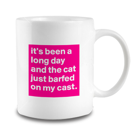 The Cat Barfed Mug