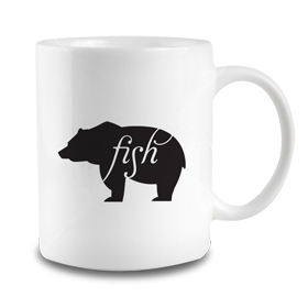 Animals Eat Mug: Bear Eats Fish