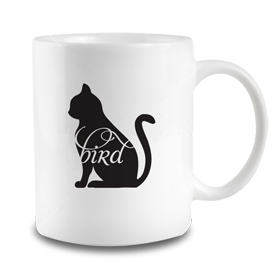 Animals Eat Mug: Cat Eats Bird