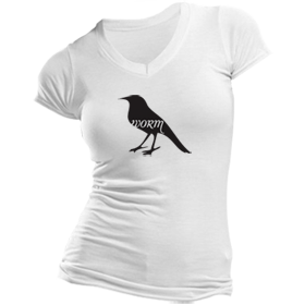 Animals Eat T-Shirt: Bird Eats Worm (Women's)