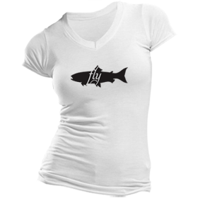 Animals Eat T-Shirt: Fish Eats Fly (Women's)