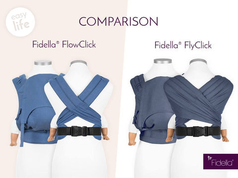 Comparison of the Fidella FlowClick and FlyClick baby carriers