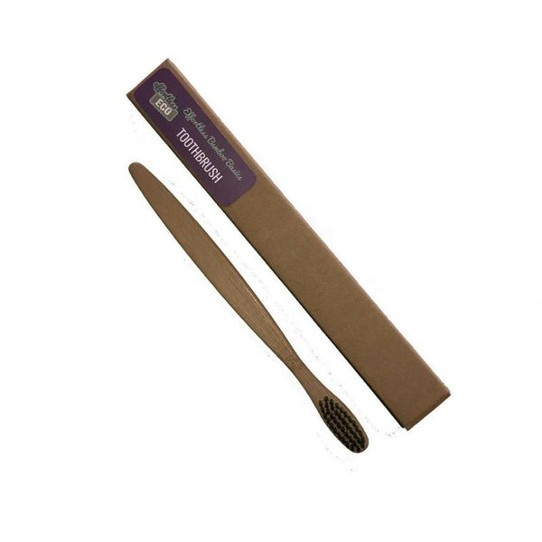 Effortless Eco-Bamboo Charcoal Toothbrush - Cloth & Carry