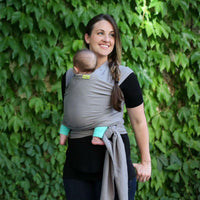 Boba-Boba Stretchy Wrap - Grey - Cloth & Carry