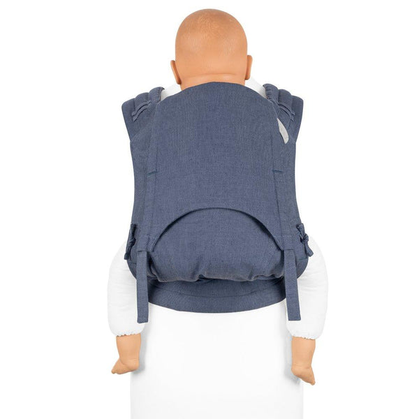 Fidella  FlyClick Plus Half Buckle Toddler Carrier in Blue Chevron  - Cloth & Carry, Australia