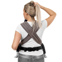 Fidella FlyClick Half Buckle Carrier in Beige Diamonds - Cloth & Carry, Perth, Australia
