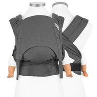 Fidella FlowClick Half Buckle Baby Carrier in anthracite - Cloth & Carry, Perth, Australia