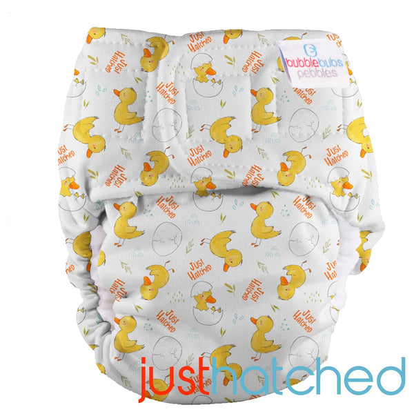 Bubblebubs-'Just Hatched' Pebbles AIO Newborn Nappy - Cloth & Carry
