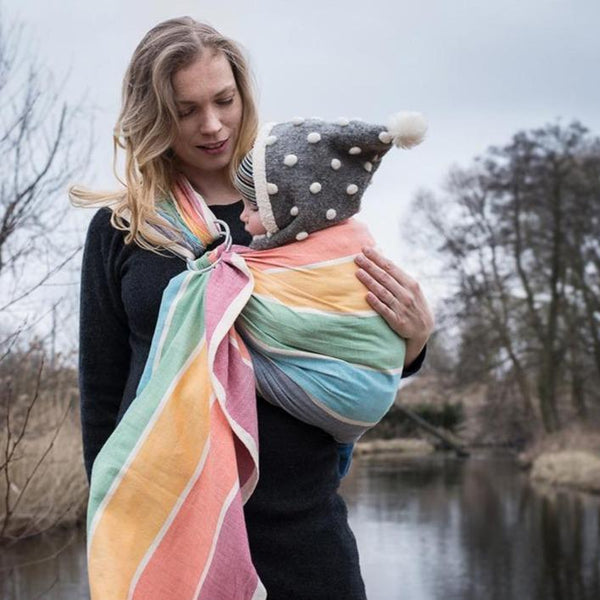 Girasol-Rainbow Herringbone Ring Sling - Cloth & Carry
