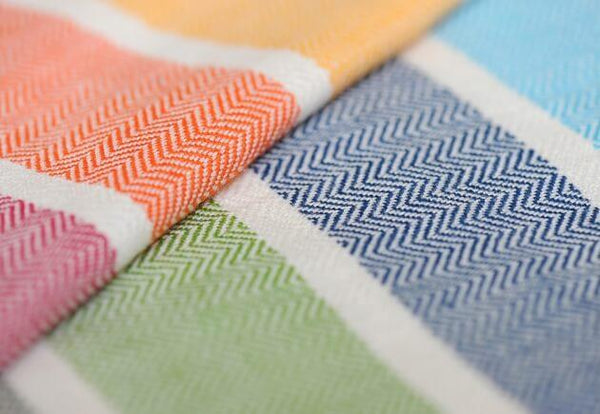 Girasol-Rainbow Herringbone Woven Wrap - Cloth & Carry