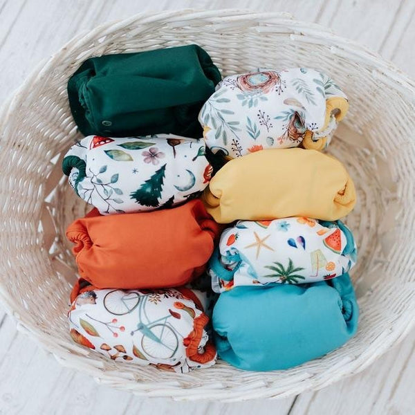 "Seedling Baby-Seedling Baby Multi-Fit Pocket Nappy - ""Four Seasons"" - Cloth & Carry"