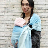 Yaro Slings-Yaro Newborn Ring Sling - Blue - Cloth & Carry