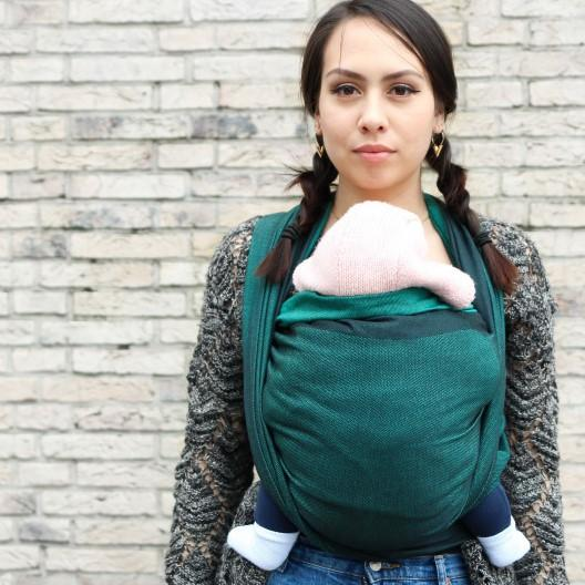 Yaro Slings-Yaro Newborn Woven Wrap - Emerald Black - Cloth & Carry