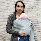 Yaro Slings-Yaro Newborn Woven Wrap - Grey - Cloth & Carry