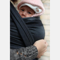 Yaro Slings-Yaro Newborn Woven Wrap - Grey Black - Cloth & Carry