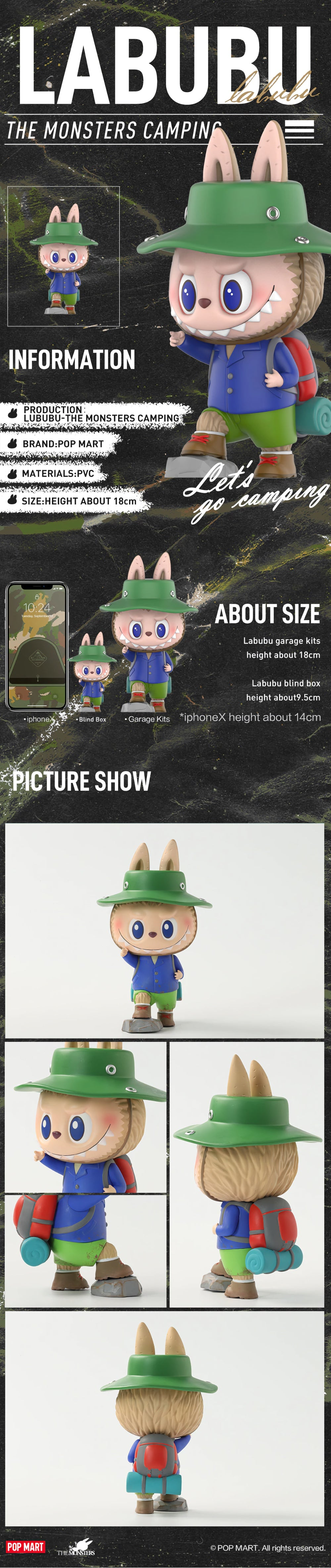 POP MART X Labubu the Monsters Camping Collectible Figurine