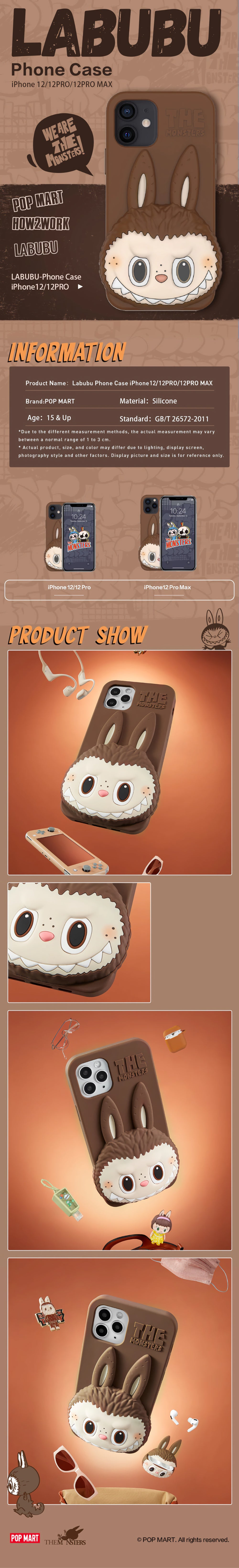 POP MART Labubu the Monsters Protective Case for iPhone