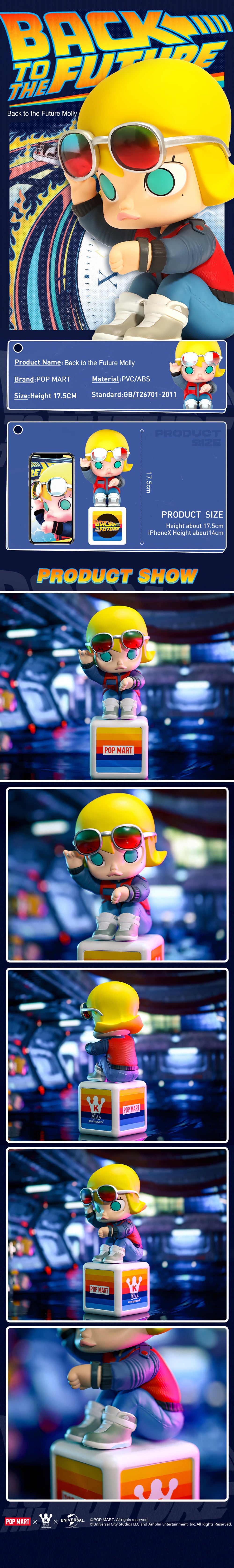 POP MART Back To The Future Molly Collectible Figurine